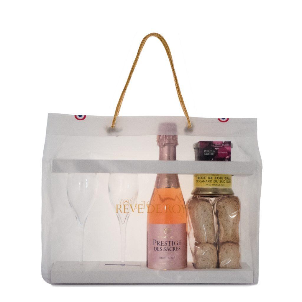 RÊVE DE ROY Sachet Dégustation Prestige Pour 2. Accord Mets & Vin de Champagne Rosé - Danse de Fruits Rouges